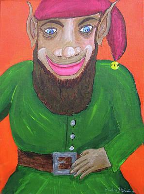 Santa's Happy Elf Original by Gordon Wendling