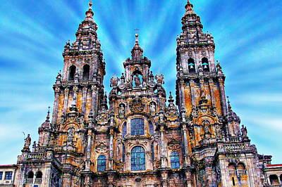 Santiago De Compostela Cathedral Print by Anthony Dezenzio