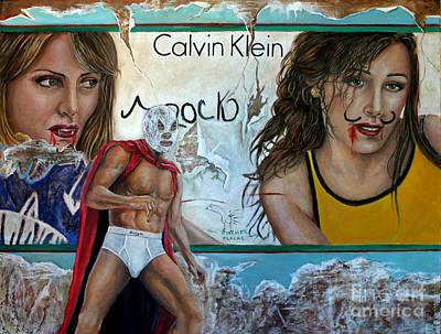 Santo Vs Vampire Women Original by Nancy Almazan