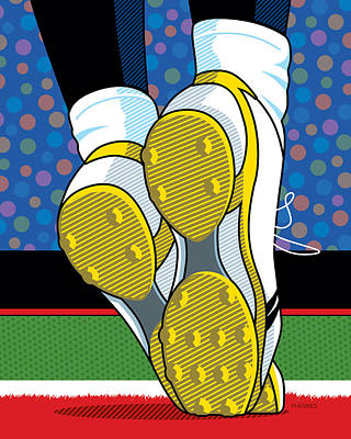 The Catch Digital Art - Santonio Holmes Toe Tap by Ron Magnes