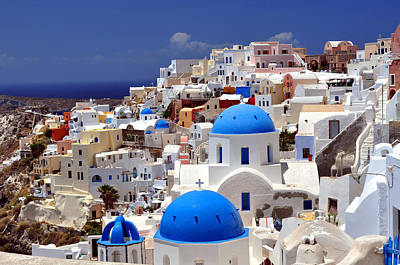 Greek Photograph - Santorini Island. by Fernando Barozza
