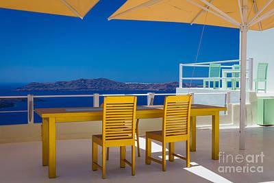 Viewpoint Photograph - Santorini Patio by Inge Johnsson