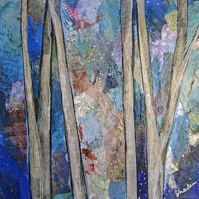 Sapphire Forest I Print by Shadia Zayed