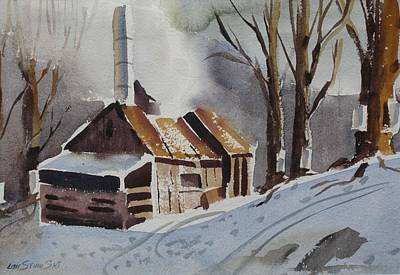 Early Spring Painting - Sapping Down by Len Stomski