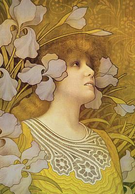 Sarah Bernhardt Print by Paul Berthon