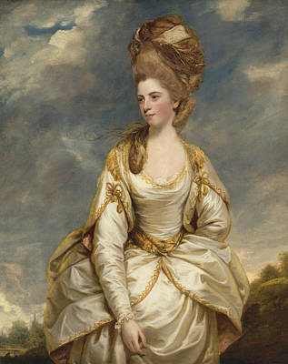 18th Century Painting - Sarah Campbell  by Joshua Reynolds