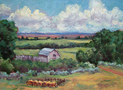 Haybale Painting - Saratoga Country by Jill Musser