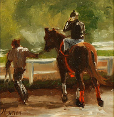 Heather Burton Painting - Saratoga Morning by Heather Burton