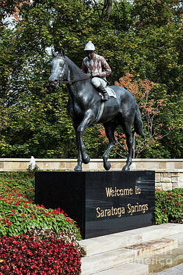 Thoroughbred City Photograph - Saratoga Springs by John Greim