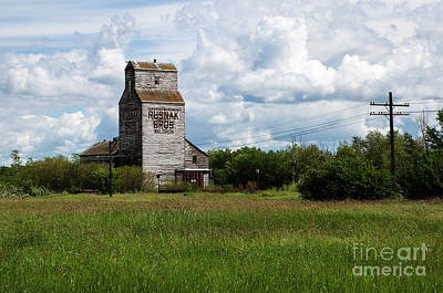 Saskatchewan Waldron Elevator Print by Bob Christopher