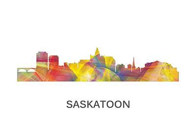 Saskatoon Sask.skyline Print by Marlene Watson