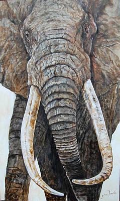 Poachers Painting - Satao by Leisa Temple