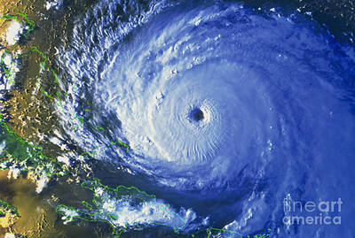 Noaa Photograph - Satellite Image Of Hurricane Floyd by NASA / Science Source