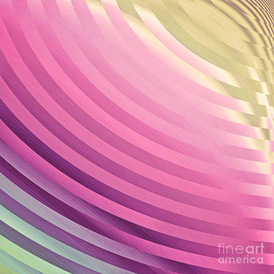Satin Movements Pink Print by Mindy Sommers