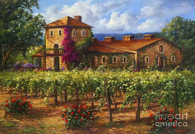 Sattui Painting - Sattui Winery by Gail Salituri