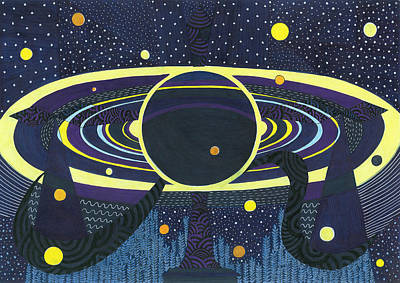 Saturday's Planet Is Saturn Print by Ushma Sargeant