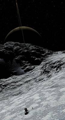 David Robinson Digital Art - Saturn From Prometheus by David Robinson