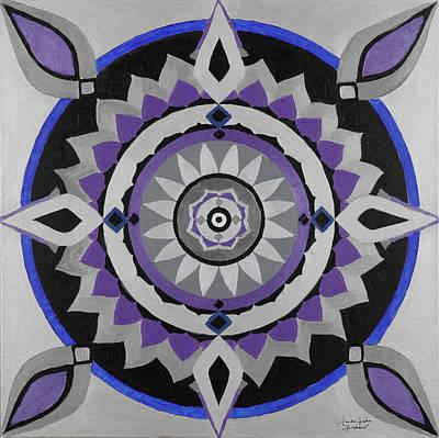 Saturn Mandala Original by Sandra Petra Pintaric