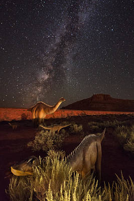 Night Workshop Photograph - Sauropods At Play by Mike Berenson