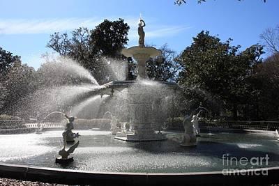 Savannah Fountain Print by Carol Groenen