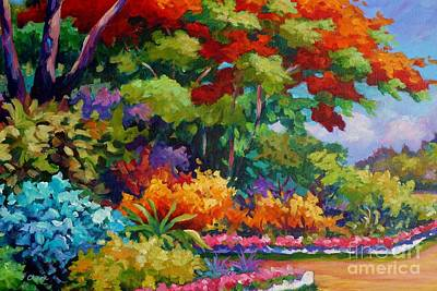 Bahamas Landscape Painting - Savannah Garden by John Clark