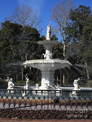 Savannah Square Fountain Print by Carol Groenen