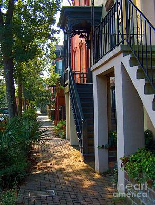 Brick Street Photograph - Savannah Streets by M Glisson