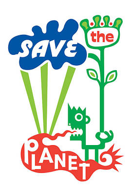 Save The Planet  Print by Andi Bird