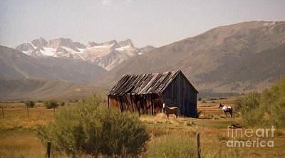 High Sierra Digital Art - Sawtooth Range From Bridgeport by Anthony Forster