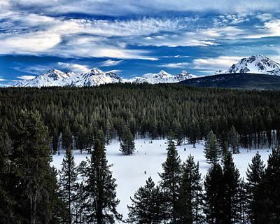 Sawtooth Photograph - Sawtooth Winter by Leland D Howard