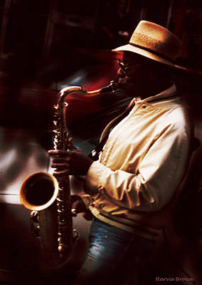 Strong Contrasts Photograph - Sax Man by Harvie Brown