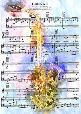 Saxophone Music 2 - By Diana Van Print by Diana Van