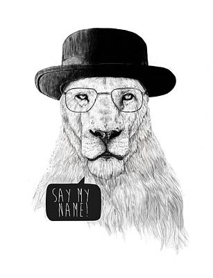 Lion Mixed Media - Say My Name by Balazs Solti