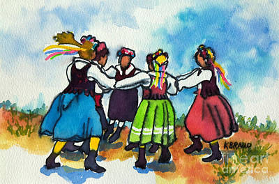 Black History Mixed Media - Scandinavian Dancers by Kathy Braud