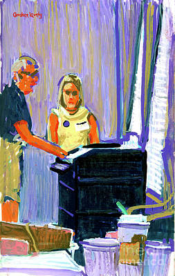 George Bush Painting - Scanning 2004 Electoral Votes by Candace Lovely