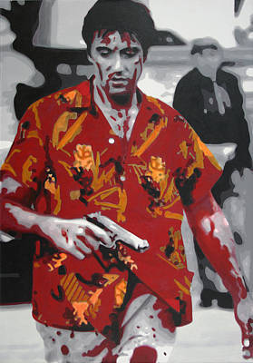 Cocaine Painting - Scarface 2013 by Luis Ludzska