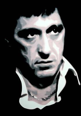 Crime Drama Movie Painting - Scarface by Luis Ludzska