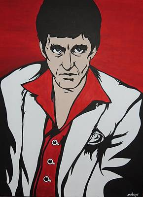 Scarface Painting - Best Offer Original by Stephanie Robayo