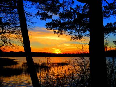 Scargo Lake Sunset Beauty Print by Dianne Cowen