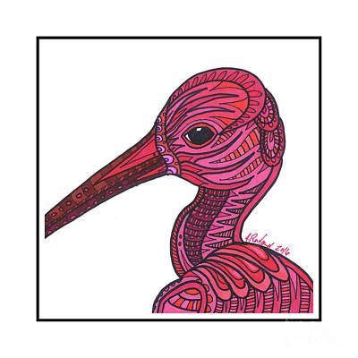 Ibis Mixed Media - Scarlet Ibis #8 by Allie Rowland