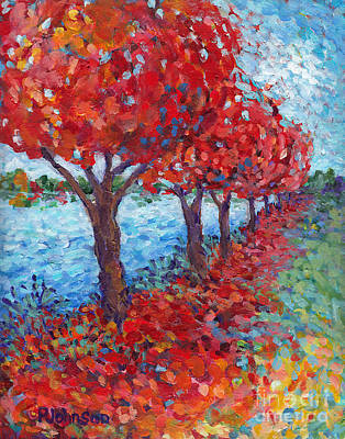 Scarlet Path Print by Peggy Johnson