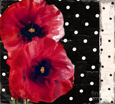 Scarlet Poppies II Print by Mindy Sommers