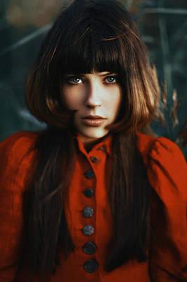Green Eyes Photograph - Scarlet Revamp by Alexander Kuzmin