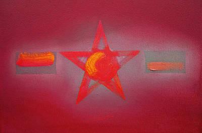 Pentagram Art Painting - Scarlet Vermillion by Charles Stuart