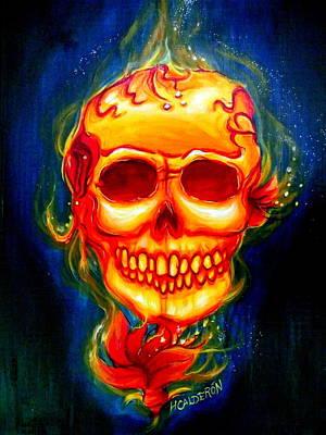Good Energy Painting - Scarleta by Heather Calderon