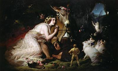 Scene From A Midsummer Night's Dream Print by Sir Edwin Landseer