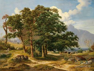1833 Painting - Scene From The Salzkammergut by Celestial Images
