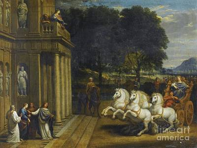 Jacques Painting - Scene From The Story Of A Saint by Celestial Images