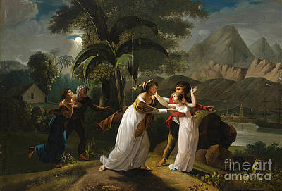 Scene From The Story Of Paul And Virginie Print by Celestial Images