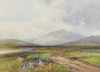 River Scenes Drawing - Scene On The Taw, Stepperton by Frederick John Widgery